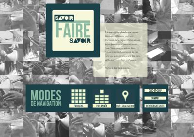 SAVOIR-FAIRE ET FAIRE SAVOIR : LA PLATEFORME